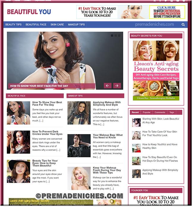 Beautiful You Ready Made WordPress Blog