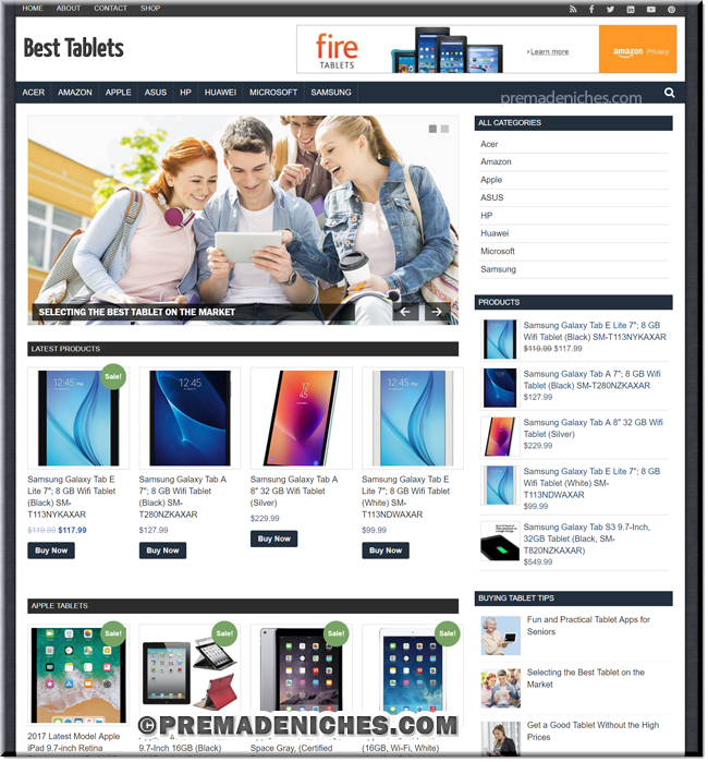 Best Tablets Amazon Affiliate Site