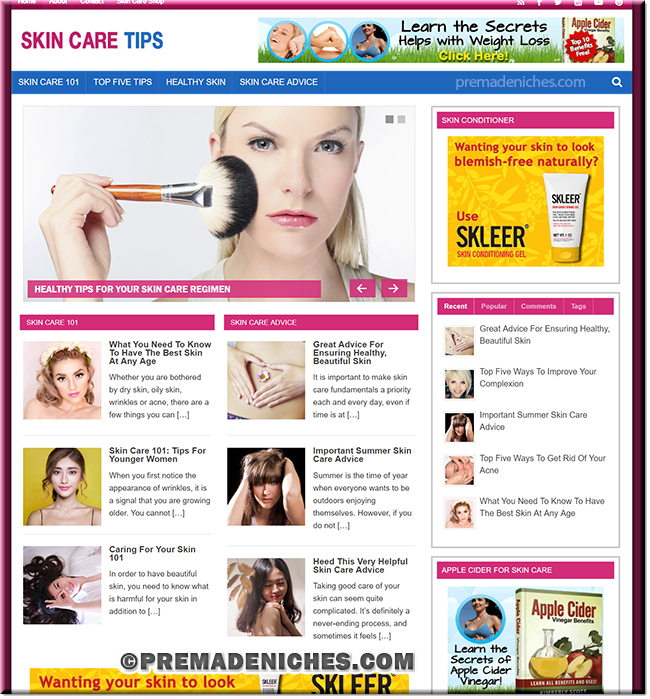 Skin Care Tips Turnkey Blog