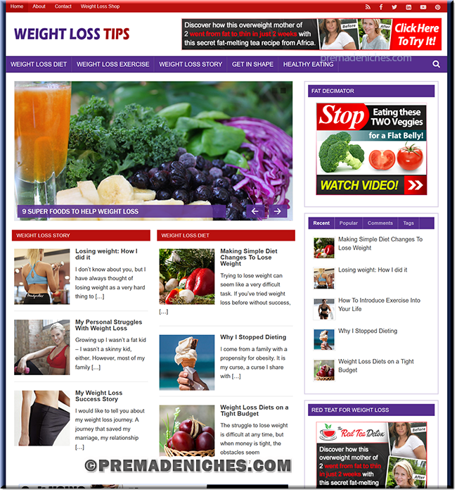 Weight Loss Tips Done-for-you PLR Blog