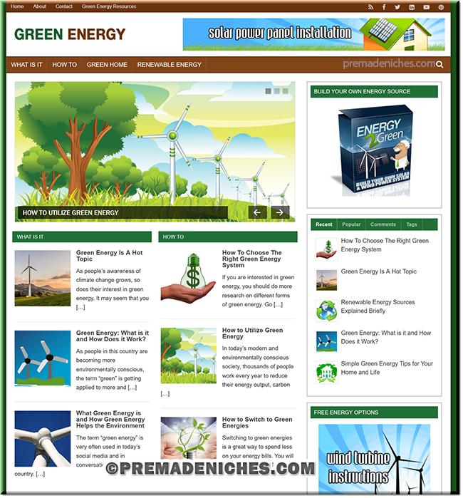 Green Energy PLR Niche Blog