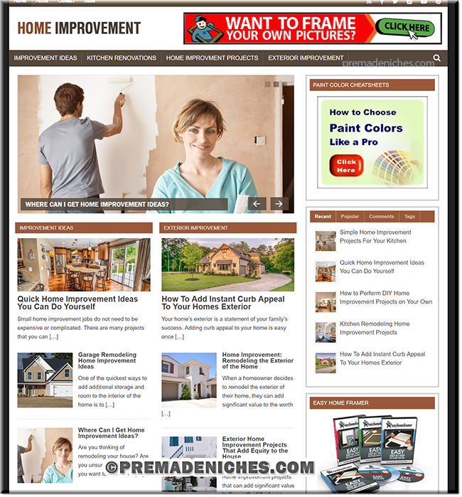 Home Improvement PLR Niche Blog