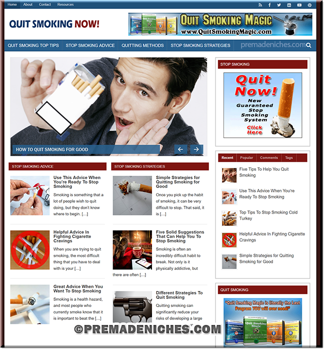 Stop Smoking Tips PLR Blog