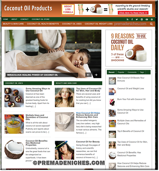 Coconut Oil Products PLR Blog