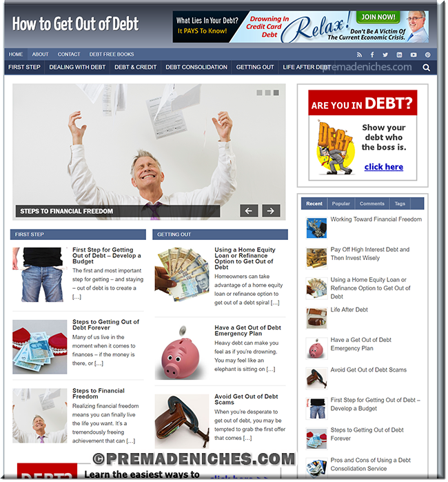How to Get Out of Debt PLR Blog