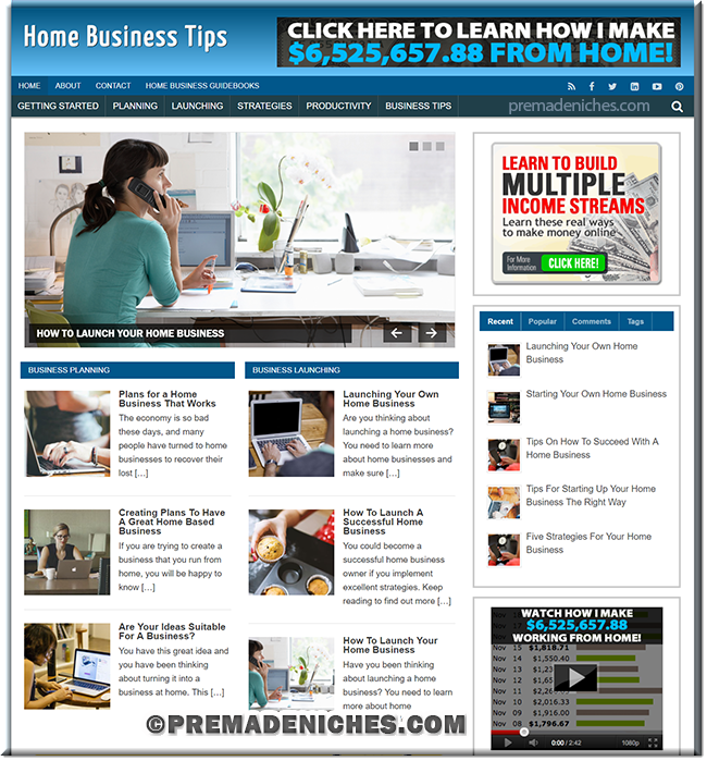 Home Business Tips Turnkey Website