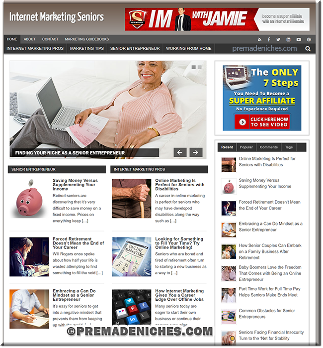 Internet Marketing for Seniors PLR Blog