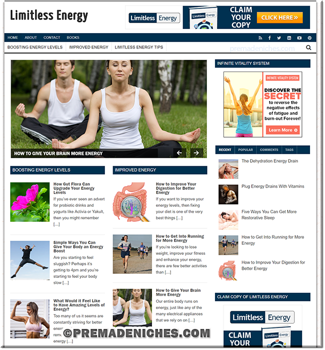 Limitless Energy Pre Made Website