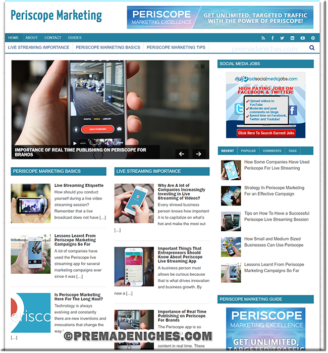 Periscope Marketing Excellence PLR Blog