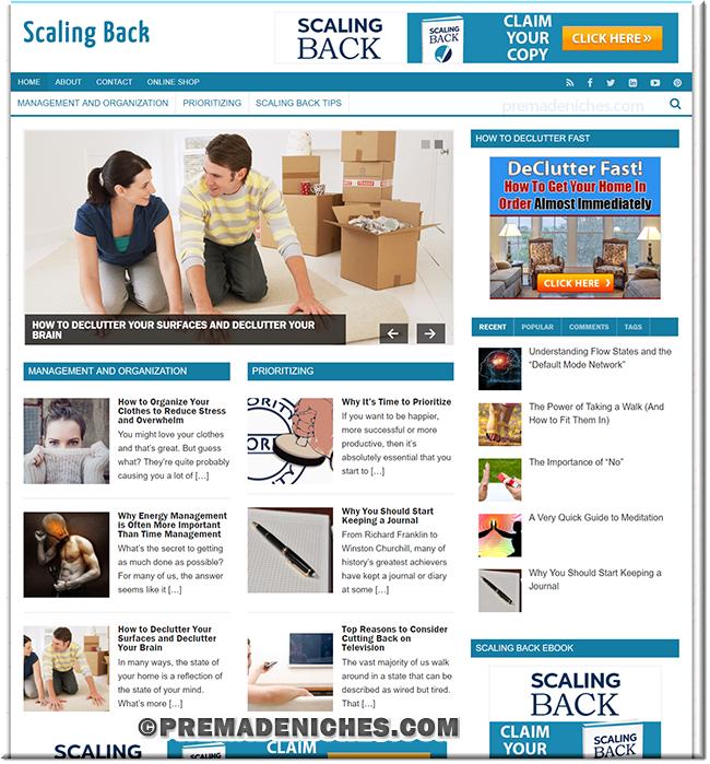 Scaling Back Turnkey PLR Website