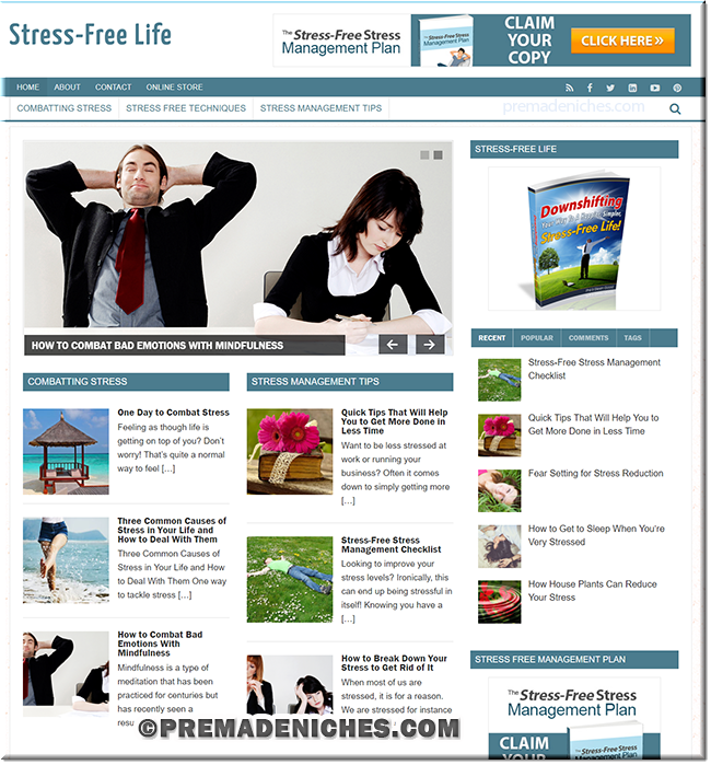 Stress-Free Stress Management Plan PLR Site