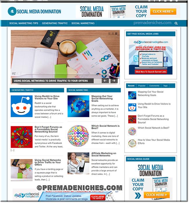Social Media Domination PLR Blog