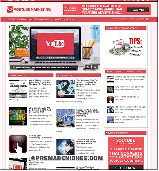 YouTube Marketing Niche PLR Blog