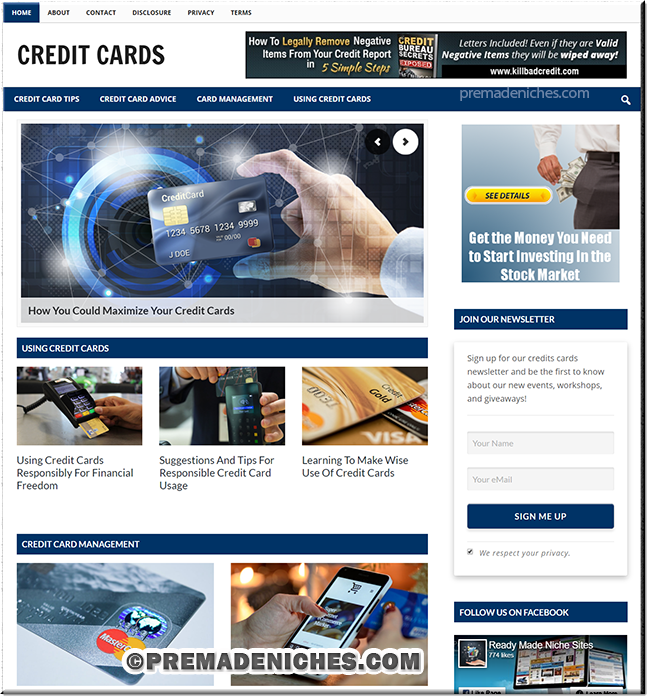 Credit Cards PLR Site