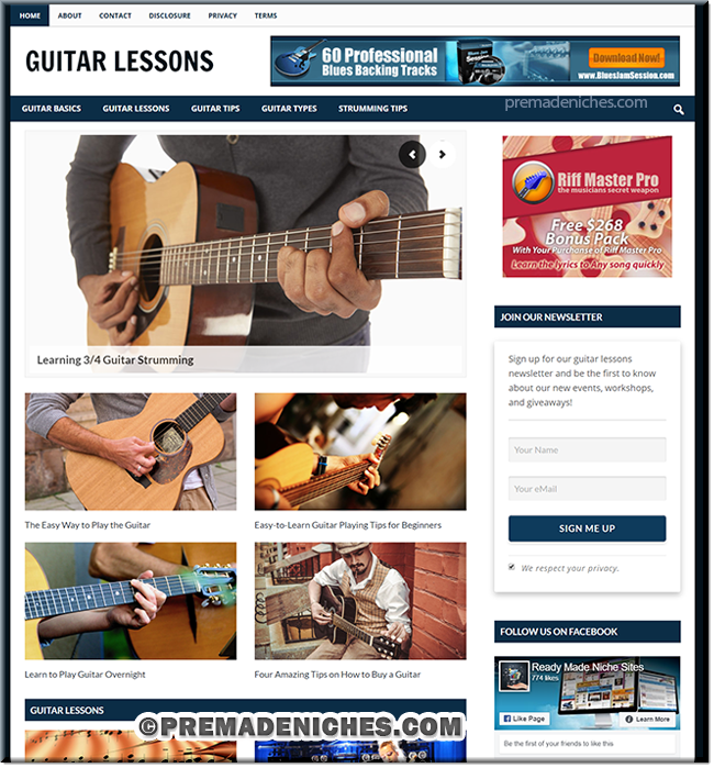 Guitar Lessons PLR Blog