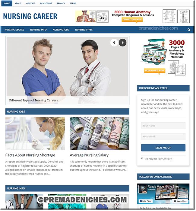 Nursing Career Ready Made Site