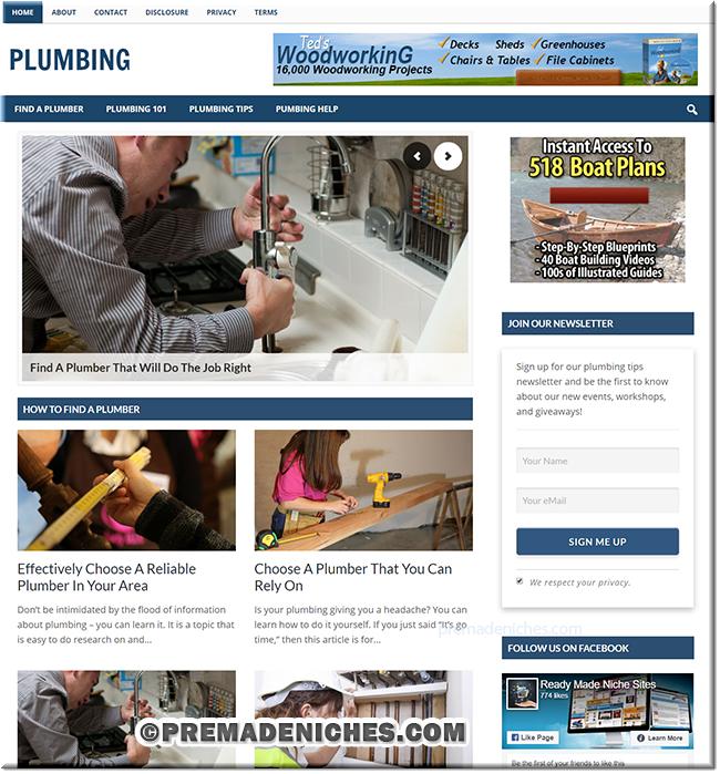 Plumbing PLR Niche Site