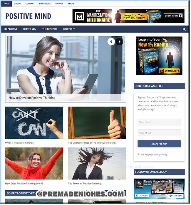 Positive Thinking PLR Blog