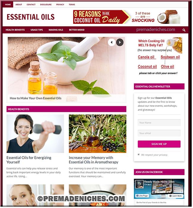 Essential Oils PLR Blog