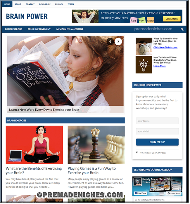 Improve Brain Power PLR Site