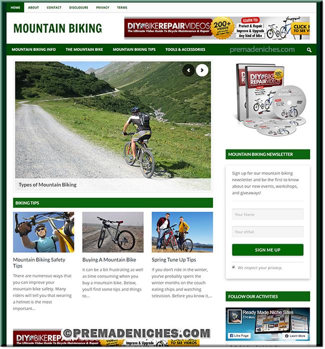 Mountain Biking Ready Made Blog