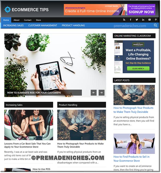 eCommerce Tips Starter Blog with PLR License