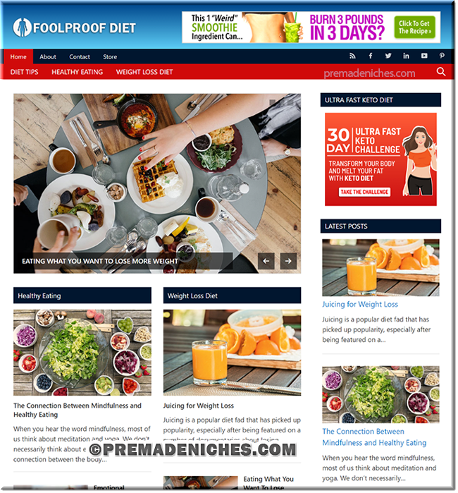 Foolproof Diet - Ready Made Affiliate Blog