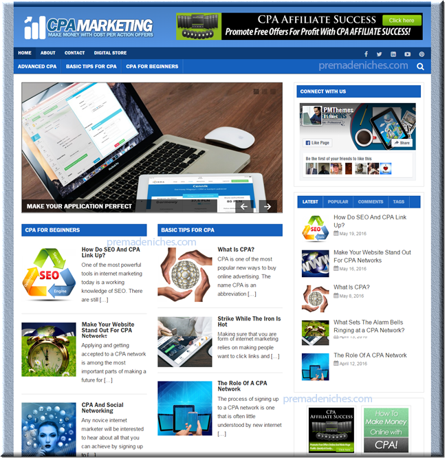 CPA Blogger - Ready Made Website