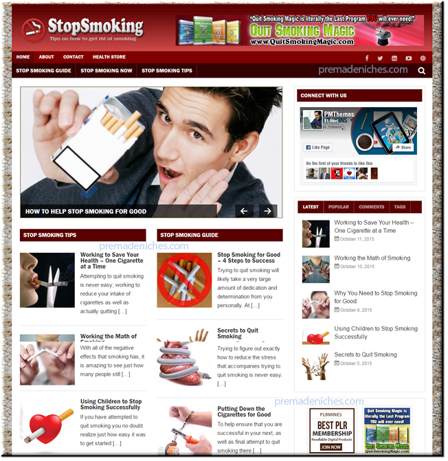 stop smoking ready made website