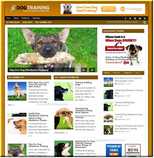 dog training ready made niche blog