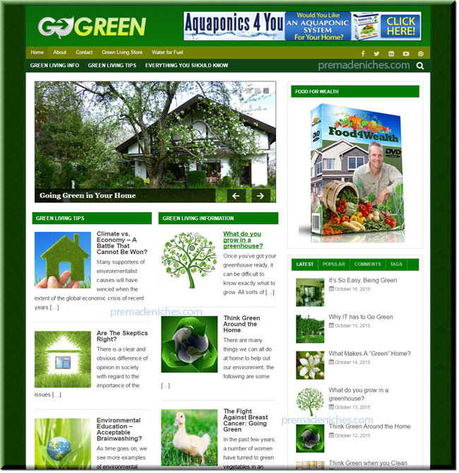 green living turnkey site