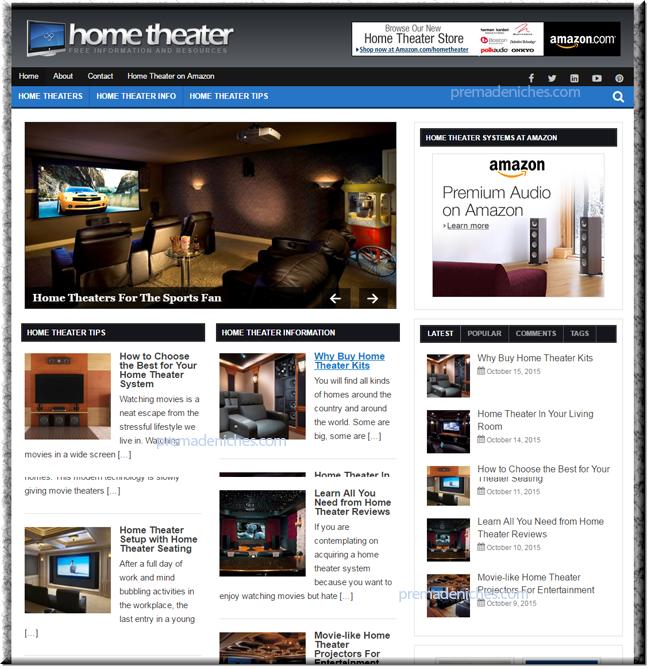 home theater niche blog