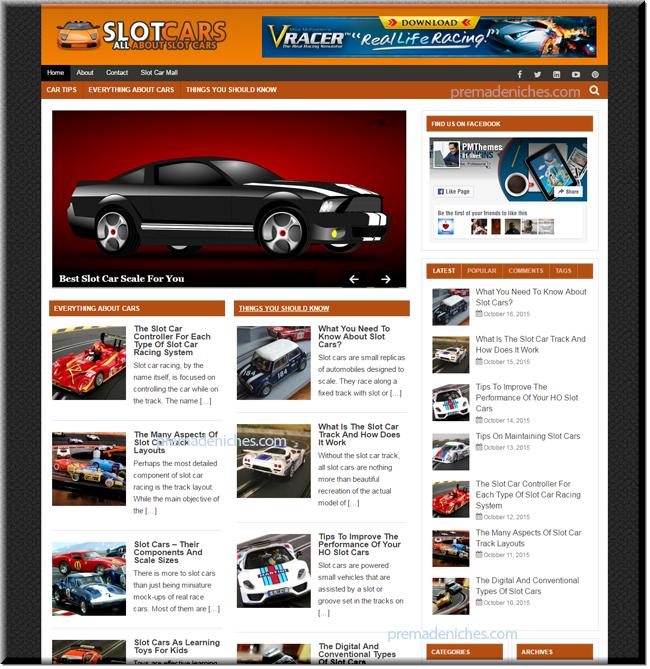 Slot Cars And Automobile Niche Blog