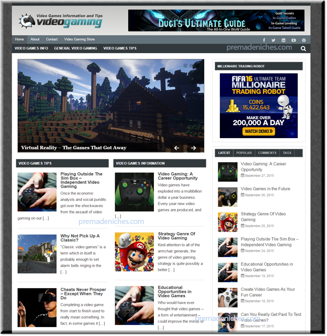 video gaming turnkey site