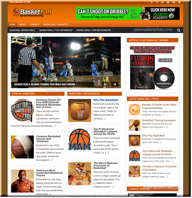 Basketball Niche Blog