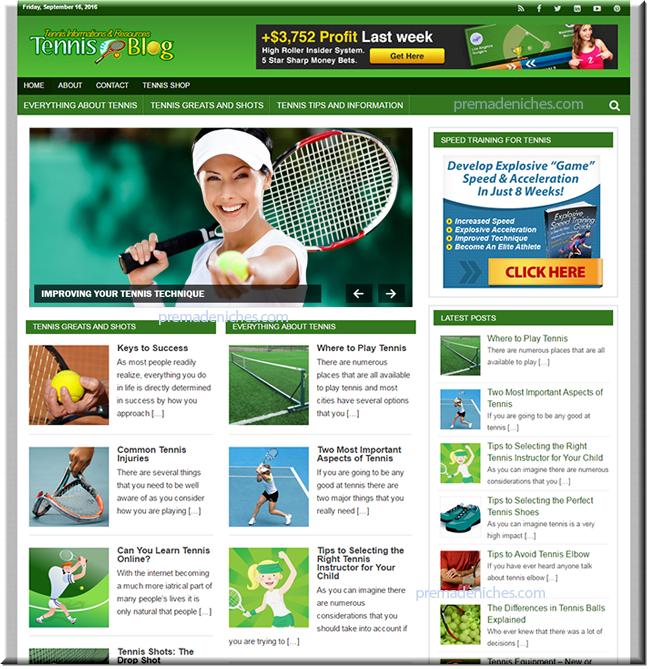 Tennis Niche Blog