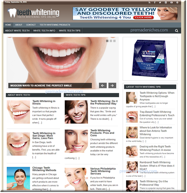 Teeth Whitening Niche Blog