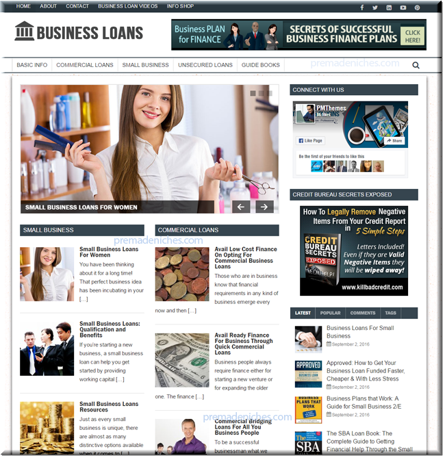 Business Loans Starter Website
