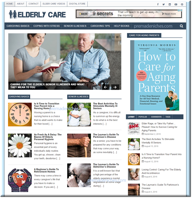 Elderly Care Tips PLR Niche Blog