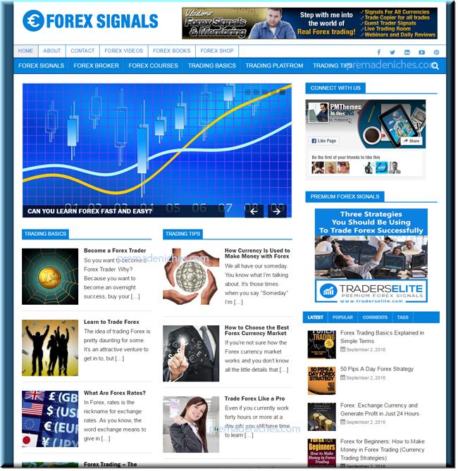 Forex Trading Signals Starter Website