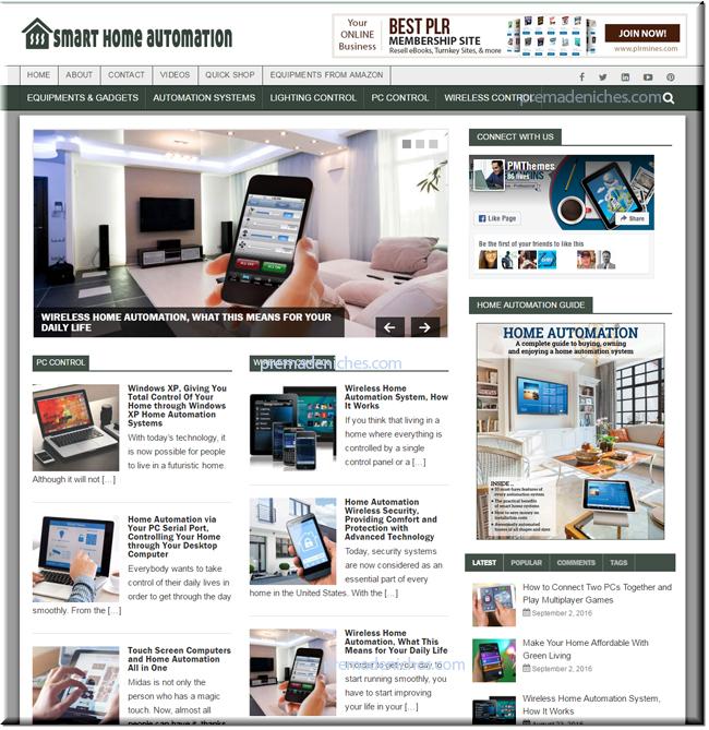Smart Home Automation Niche PLR Blog