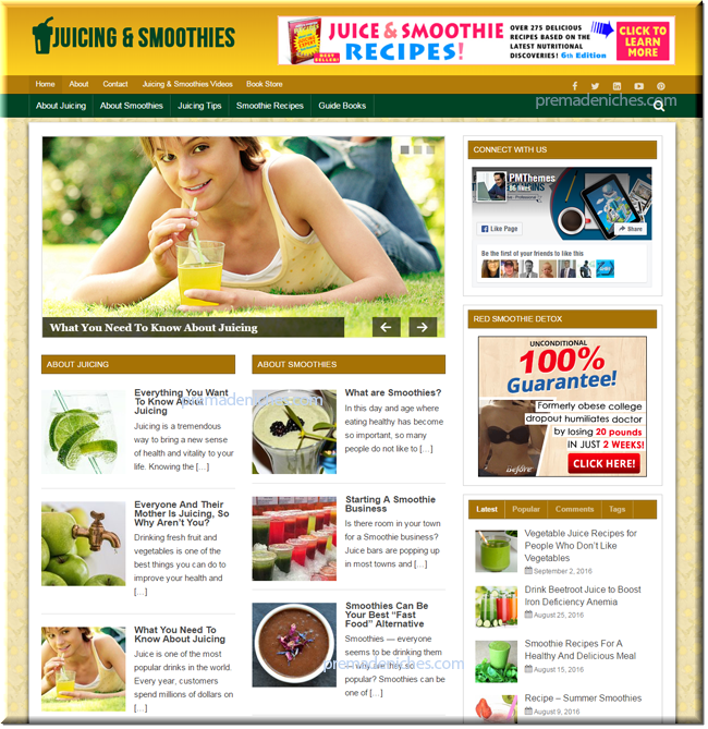 Juicing and Smoothies PLR Blog