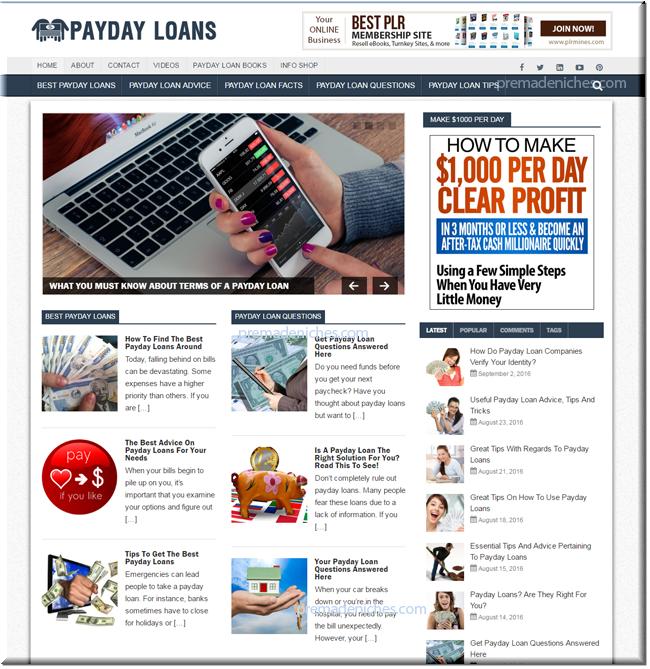 payday loans turnkey website