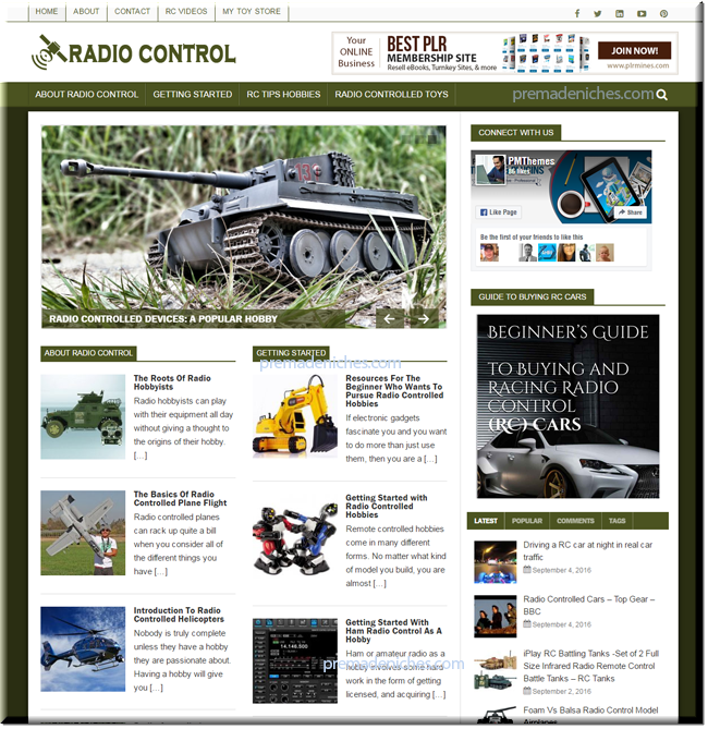 Radio Control Turnkey Starter Website