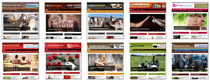 Uniquely Designed PLR Websites