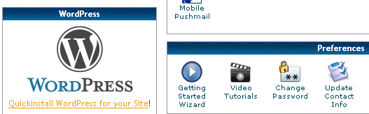 Install WordPress Using QuickInstall!