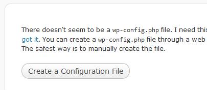 create config file