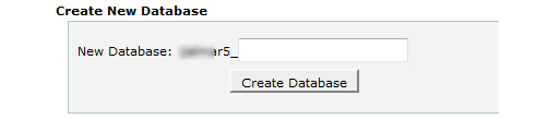 creating new database