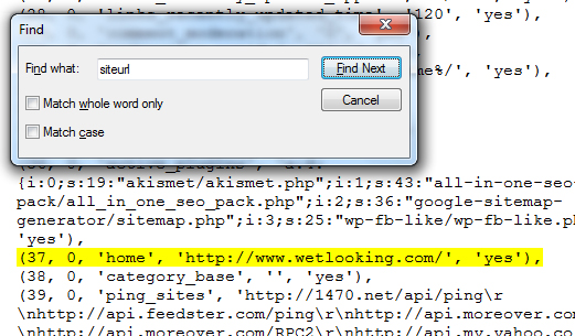 change old url to new url