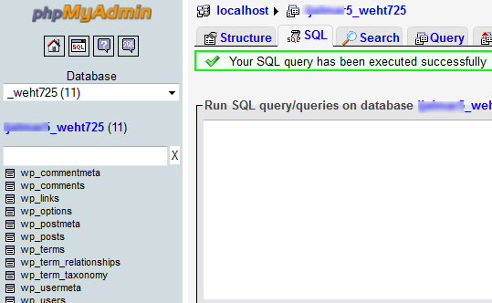 success sql replace